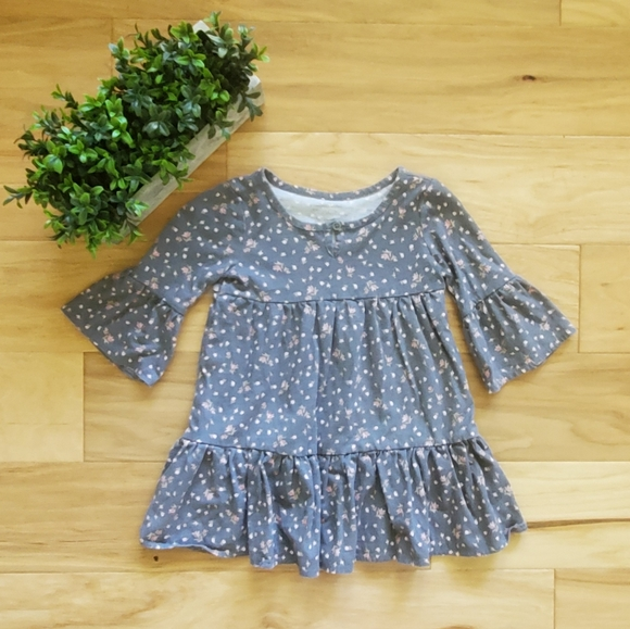 The Children's Place Grey Floral Dress